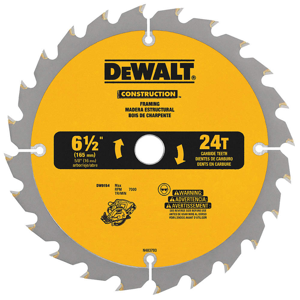 Dewalt 6 12 Carbide Combination Circular Saw Blade Number Of