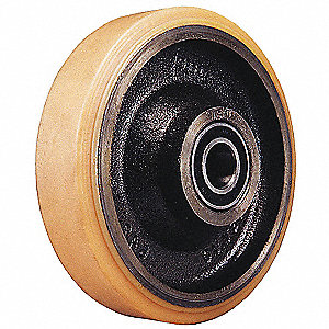"10"" Caster Wheel, 2640 lb. Load Rating, Wheel Width 1-3/4"", Polyurethane, Fits Axle 5/8"""