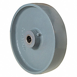 "8"" Caster Wheel, 2525 lb. Load Rating, Wheel Width 1-3/4"", Cast Iron, Fits Axle Dia. 1/2"""