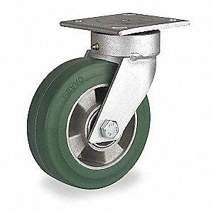 "5"" Light-Medium Duty Kingpinless Swivel Plate Caster, 440 lb. Load Rating"