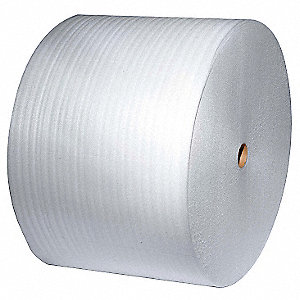 "Foam Roll, 6""W x 1250 ft., White, Perforated: Yes, Perforation Increments: 12"""