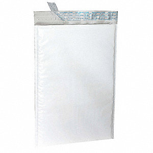 Bubble Mailer,10-1/2 x 16 In,White,PK 25