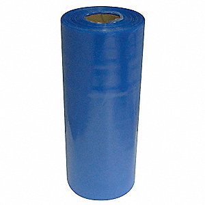 "Stretch Wrap, Hand Dispensed, 1-Side Cling, VCI, 20"" x 1500 ft., Gauge: 100, Blue"