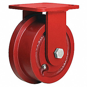 "4-15/16"" Medium-Duty Rigid Plate Caster, 1000 lb. Load Rating"