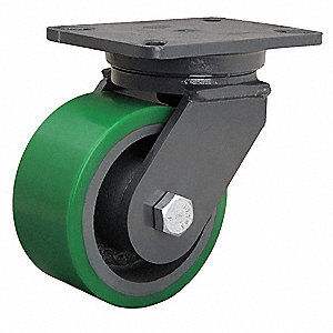 "6"" Medium-Duty Swivel Plate Caster, 2200 lb. Load Rating"
