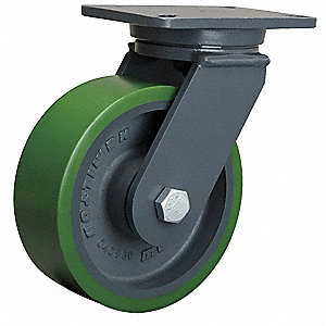 "8"" Medium-Duty Swivel Plate Caster, 2500 lb. Load Rating"
