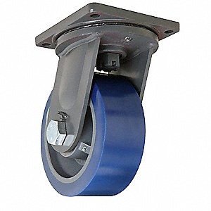 "10"" Heavy-Duty Swivel Plate Caster, 5000 lb. Load Rating"