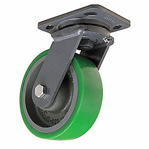 "6"" Plate Caster, 1250 lb. Load Rating"