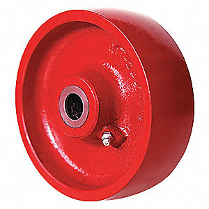 "6"" Caster Wheel, 1400 lb. Load Rating, Wheel Width 2"", Cast Iron, Fits Axle Dia. 3/4"""