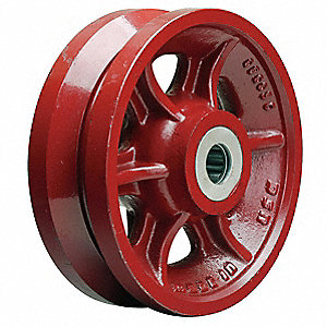 Caster Wheel,Cast Iron,8 in.,2500 lb.