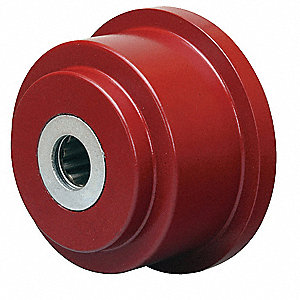 "3-1/2"" Caster Wheel, 1400 lb. Load Rating, Wheel Width 1-7/16"", Cast Iron, Fits Axle Dia. 3/4"""