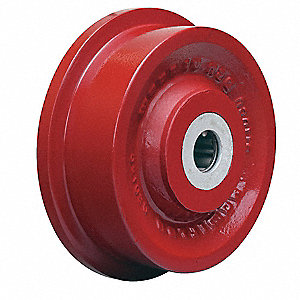 Caster Wheel,Cast Iron,6-1/8 in.,2500 lb