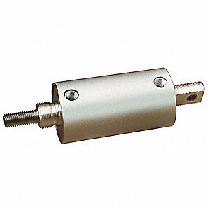 "37.375"" Anodized Aluminum Basic Mounted Air Cylinder with 23"" Stroke"