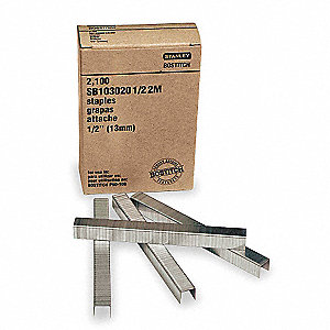 "Carton Staples, Adhesive Stick, Chisel, Crown 1/2"", Leg Length 5/8"", 2490 PK"