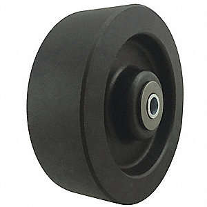 Caster Wheel, Nylon, 6 in., Up to 550 deg F