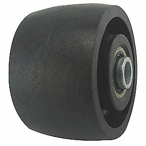 "3-1/4"" Caster Wheel, 700 lb. Load Rating, Wheel Width 2"", Nylon, Fits Axle Dia. 1/2"""
