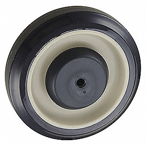 "5"" Caster Wheel, 350 lb. Load Rating, Wheel Width 1-1/4"", Polyurethane, Fits Axle Dia. 5/16"""