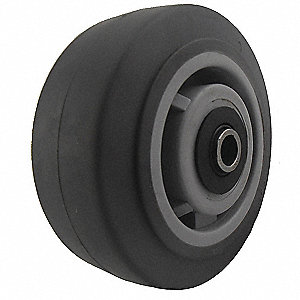 Caster Wheel,TPR,5 in.,375 lb.,Gray