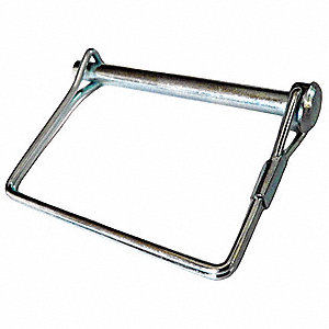 Safety Pin,Snap,Zinc,3/8 D x 3 9/16 L,Sq