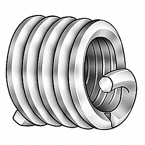 "0.562"" 304 Stainless Steel Helical Insert with 9/16-12 Internal Thread Size; PK5"