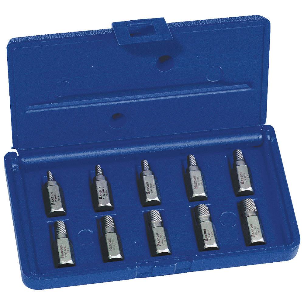 Irwin Hanson Screw Extractor Set Extractor Type Hex Head Multi Spline Screw Extractor Number Of Pieces 10 5vuc5 53226 Grainger