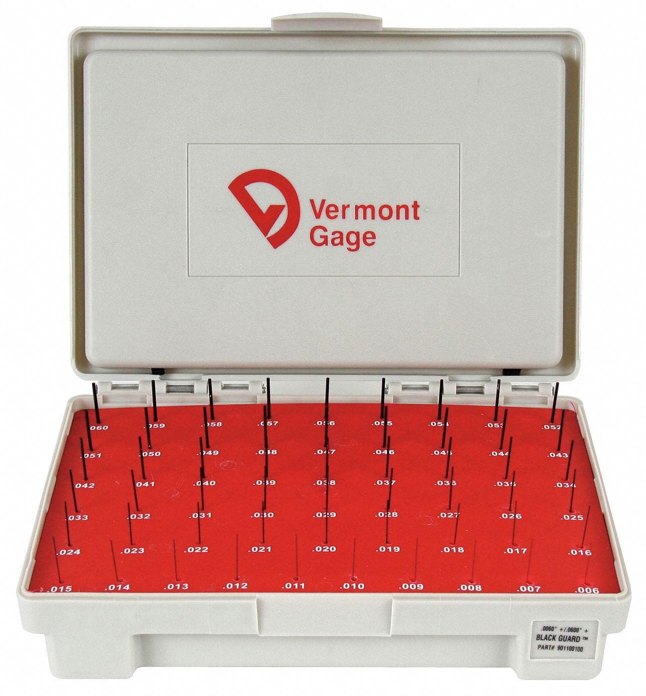 Vermont Gage 911100400 Steel Go Plug Gage Black Oxide 0.004 Gage Diameter Tolerance Class ZZ