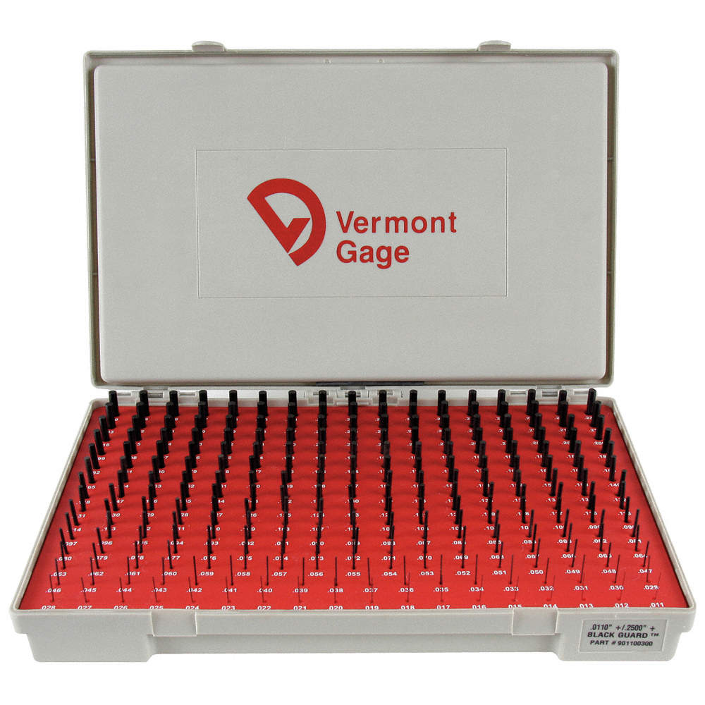 Blackquard Vermont Gage 911182300 Black Oxide Treated 52100 Tool Steel Plus Cylindrical Pin Gage