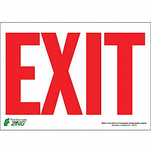 SIGN EXIT WHITE-RED 10X14 SA