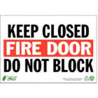 Brady 90992 Glow-In-The-Dark Plastic Glow-In-The-Dark Fire /& Exit Sign 5 X 14 with Picto Legend Sprinkler Control Valve