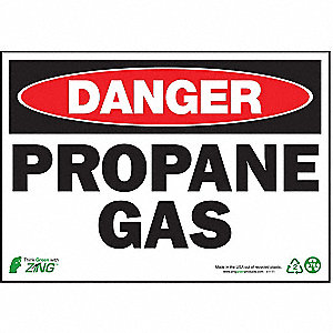 "Chemical, Gas or Hazardous Materials, Danger, Plastic, 7"" x 10"", Surface"
