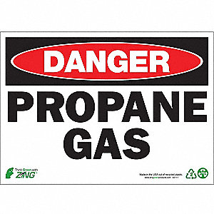 "Chemical, Gas or Hazardous Materials, Danger, Plastic, 10"" x 14"", Surface"