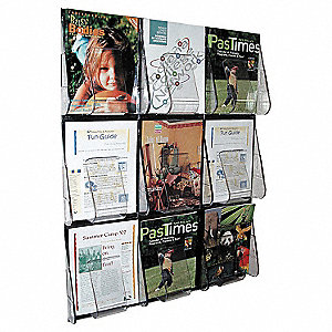 Magazine Holder,9 Compartments,Clear