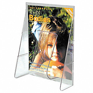 Magazine Holder,1 Compartment,Clear