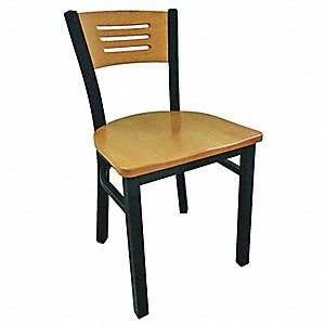 "Cafe Chair,32-1/4 ""H,19-1/2 ""W,Natural"