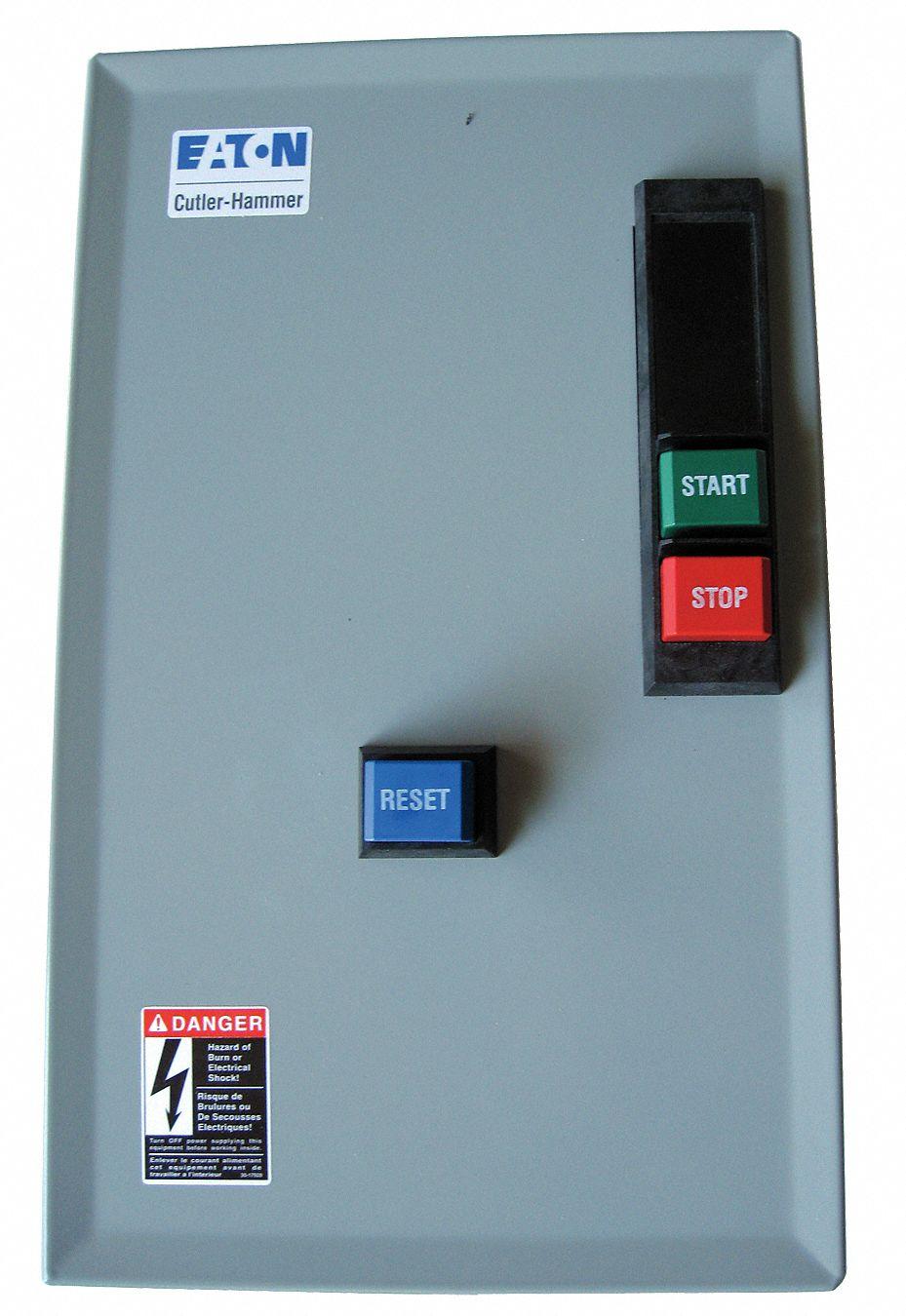 EATON Nonreversing IEC Magnetic Motor Starter, 208VAC, Overload ...