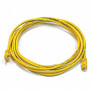 Ethernet Cable,Cat 5e,Yellow,10 ft.