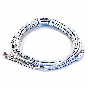 Ethernet Cable,Cat 5e,White,14 ft.