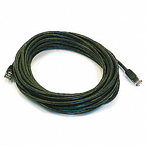 30 ft. Booted 5e Voice and Data Patch Cord, Black