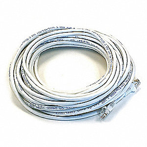 Ethernet Cable,Cat 5e,White,50 ft.