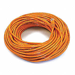 100 ft. Booted 5e Voice and Data Patch Cord, Orange