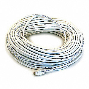 PATCH CORD,CAT5E,100FT,WHITE