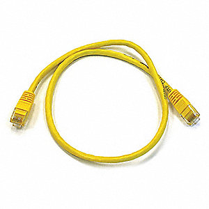 2 ft. Booted 6 Voice and Data Patch Cord, Yellow