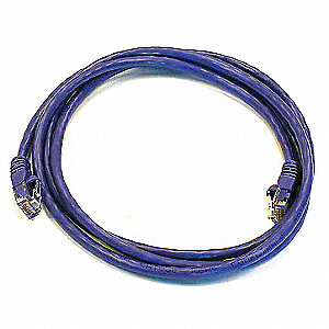 5 ft. Booted 6 Voice and Data Patch Cord, Purple