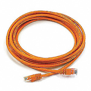 14 ft. Booted 6 Voice and Data Patch Cord, Orange