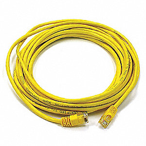 20 ft. Booted 6 Voice and Data Patch Cord, Yellow