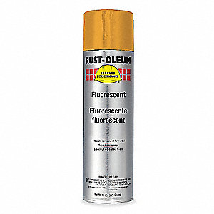 Rust Oleum Rust Preventative Fluorescent Orng 14oz 5w177 2255838 Grainger