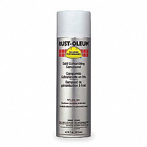 Rust Preventative Spray Paint in Metallic Galvanized for Metal, Steel, 20 oz.