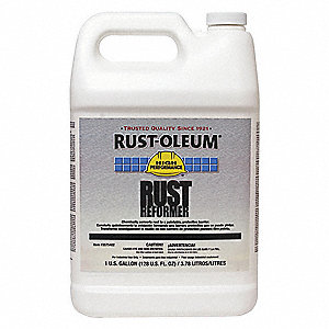 1 gal. Interior/Exterior Rust Converter Covers 590 to 1175 sq. ft./gal., Clear
