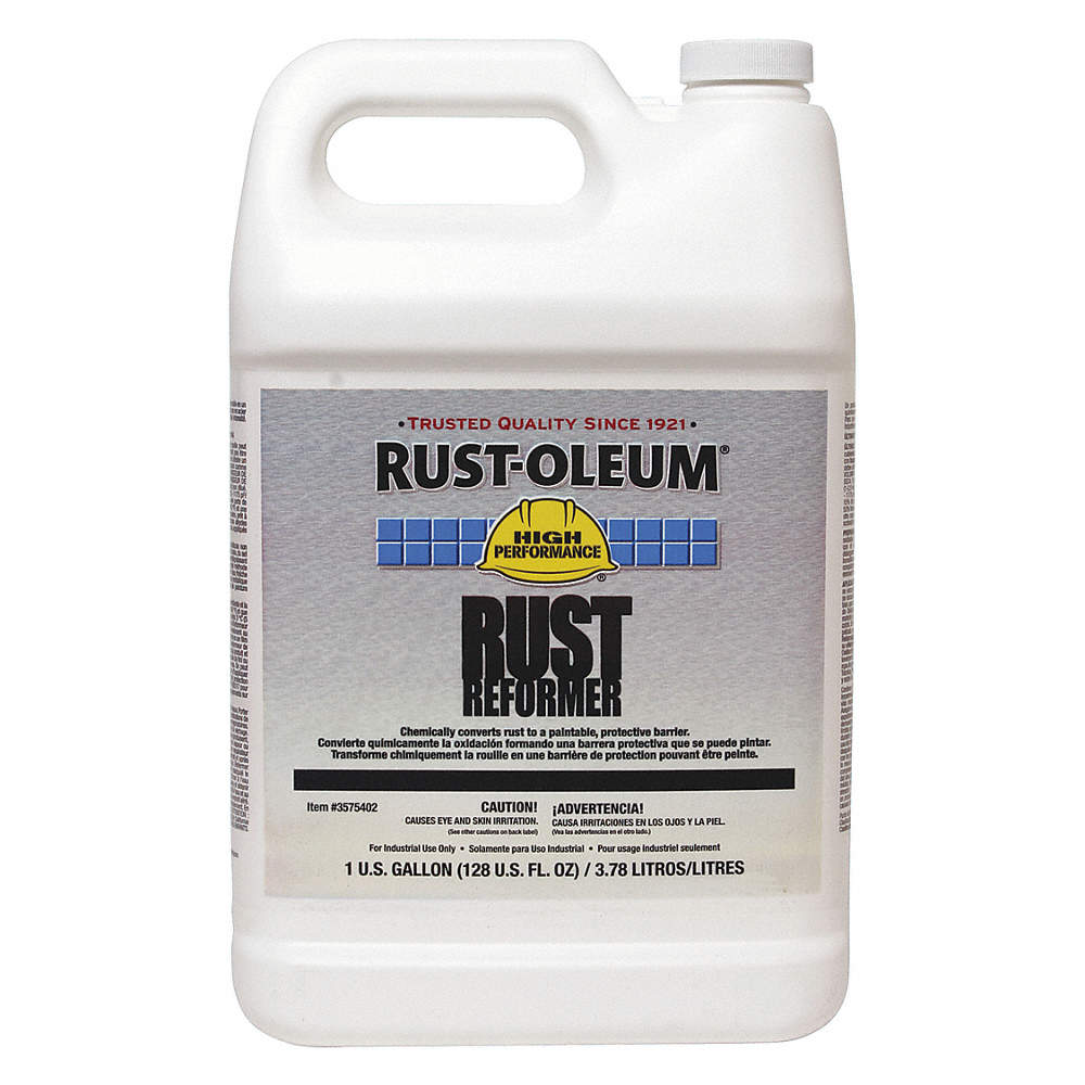 Interior/Exterior Rust Converter with 590 to 1175 sq  ft /gal  Coverage  Clear, 1 gal