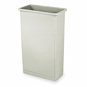 Trash Can,Rectangular,23 gal.,Beige